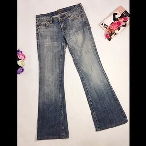 7 For All Mankind Flare Jeans Size 26 Stone Wash